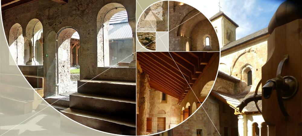 Caroussel architecture à l'abbaye de Boscodon