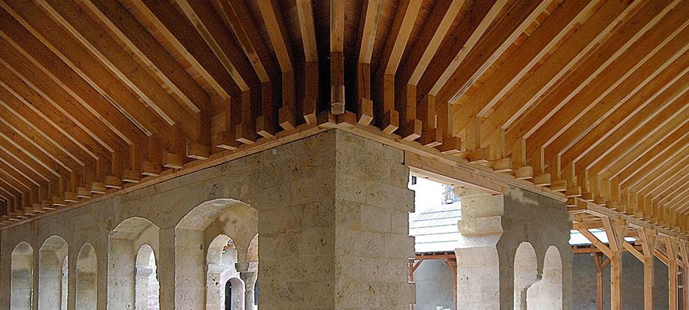 Le cloître de l'abbaye de Boscodon