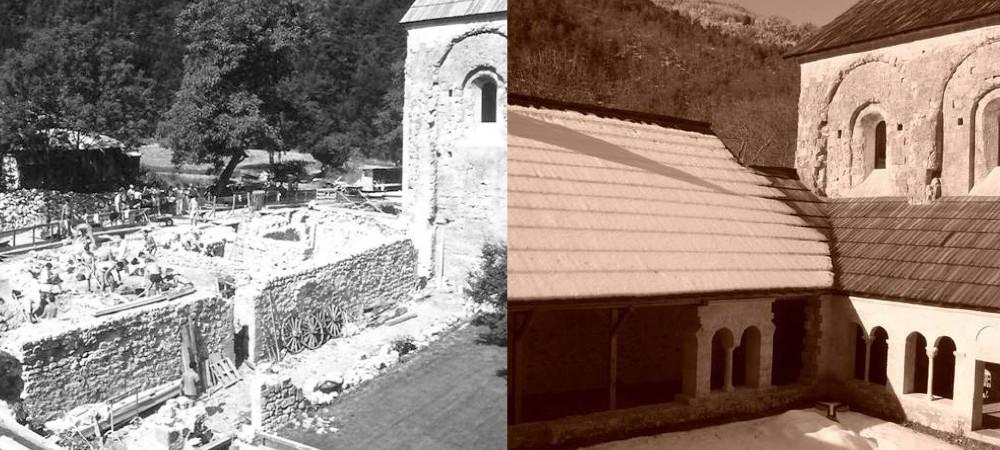 Aile des officiers à l'abbaye de Boscodon avant-après restauration
