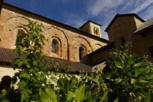 Les jardins du cloître à l'abbaye de Boscodon